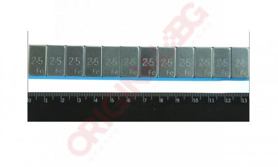 ТЕЖЕСТИ ЗА АЛУМИНИЕВИ ДЖАНТИ(2.5гр)  50 БР