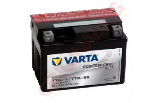 VARTA POWERSPORTS AGM YT4L-BS 3AH 40A 12V R+