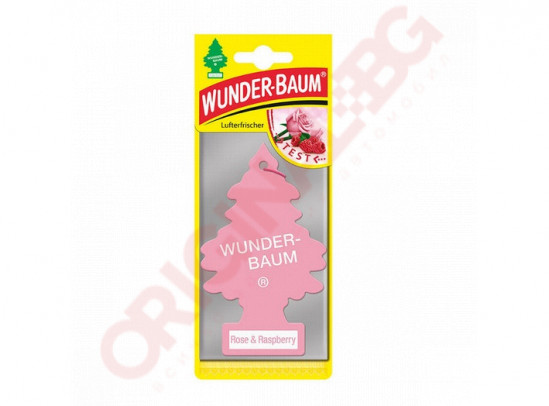 WUNDER BAUM TREE ROSE & RASPBERRY АРОМАТИЗАТОР