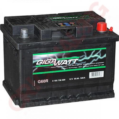 GIGAWATT 60AH 540A R+