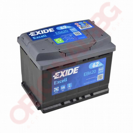 EXIDE EXCELL 62AH 540A R+