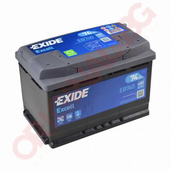 EXIDE EXCELL 74AH 680A R+