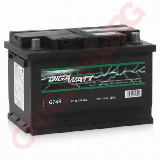 GIGAWATT 74AH 680A R+
