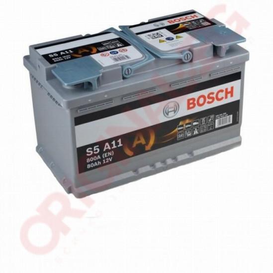 BOSCH S5 AGM 80AH 800A R+