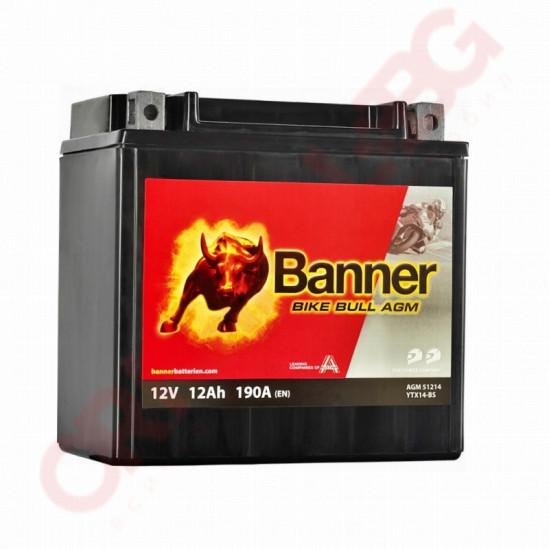 BANNER BIKE BULL AGM YTX14-BS 12AH 190A L+
