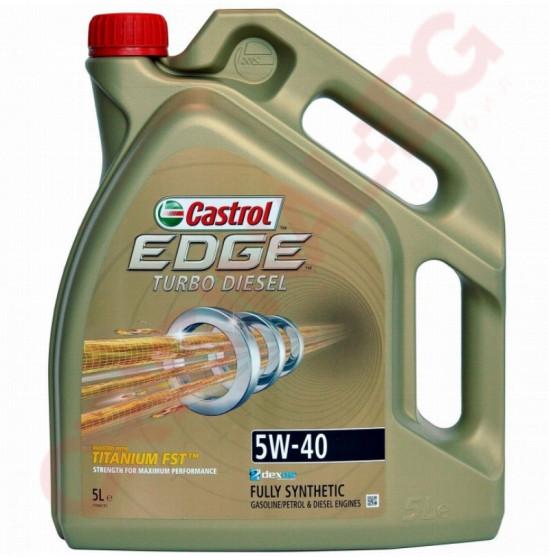 CASTROL EDGE TURBO DIESEL TITANIUM 5W40 5L