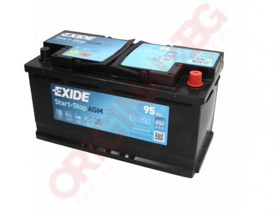 EXIDE AGM 95AH 850A R+
