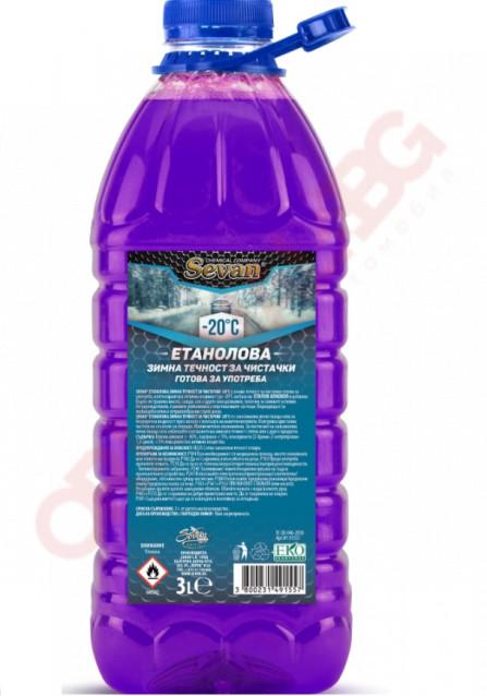 Зимна течност за чистачки SEVAN -20 3L