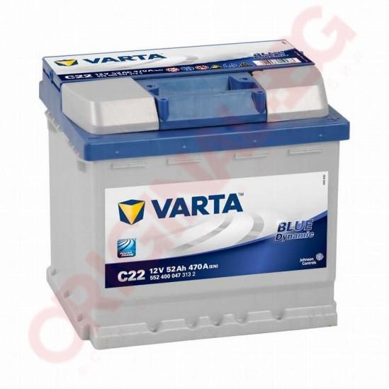 VARTA BLUE DYNAMIC 52AH 470A R+